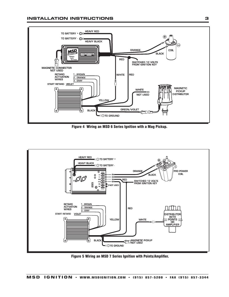 Msd Ignition Wiring Diagrams Msd 6 Series To Msd Part 8460 Distributor