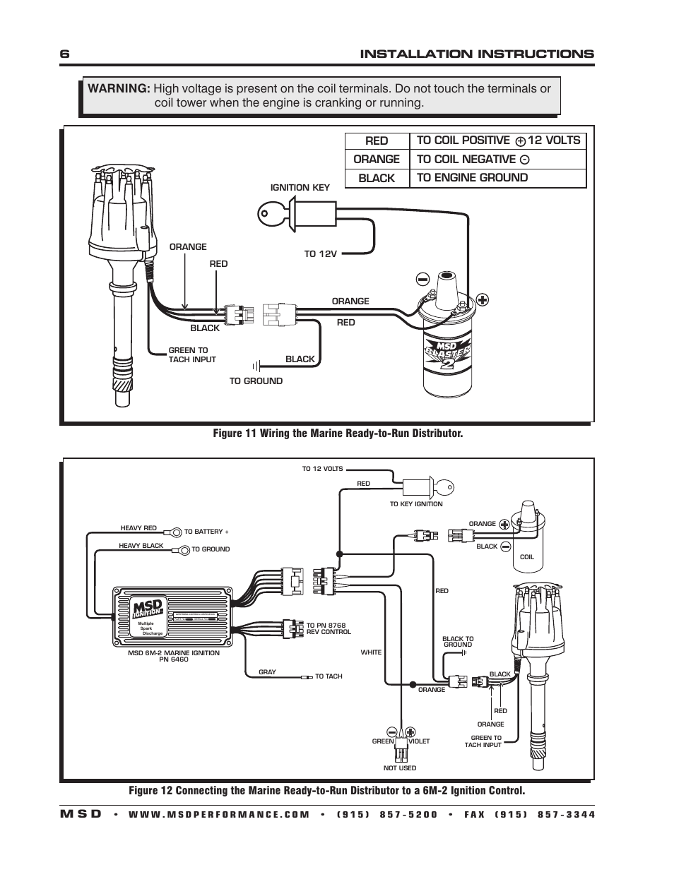 Msd Marine Distributor Wiring Electrical Diagram Gm 6installation Instructions M S D 83506 Ford 351 460 Ready To Rh Manualsdir Com Box Digital 6