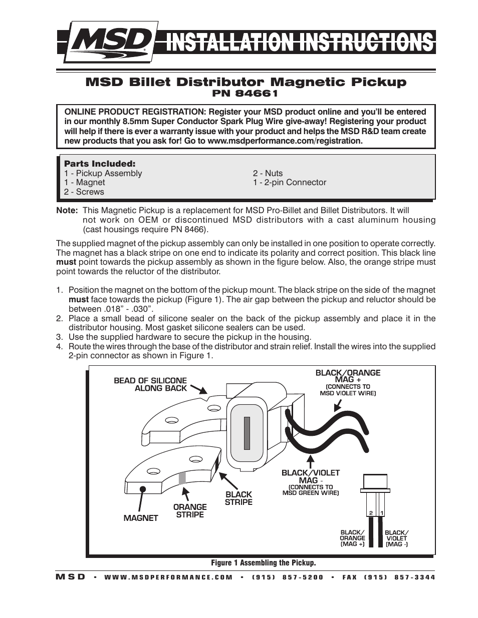 Famous 2wire Msd Distributor Wiring Gift - Wiring Diagram Ideas ...