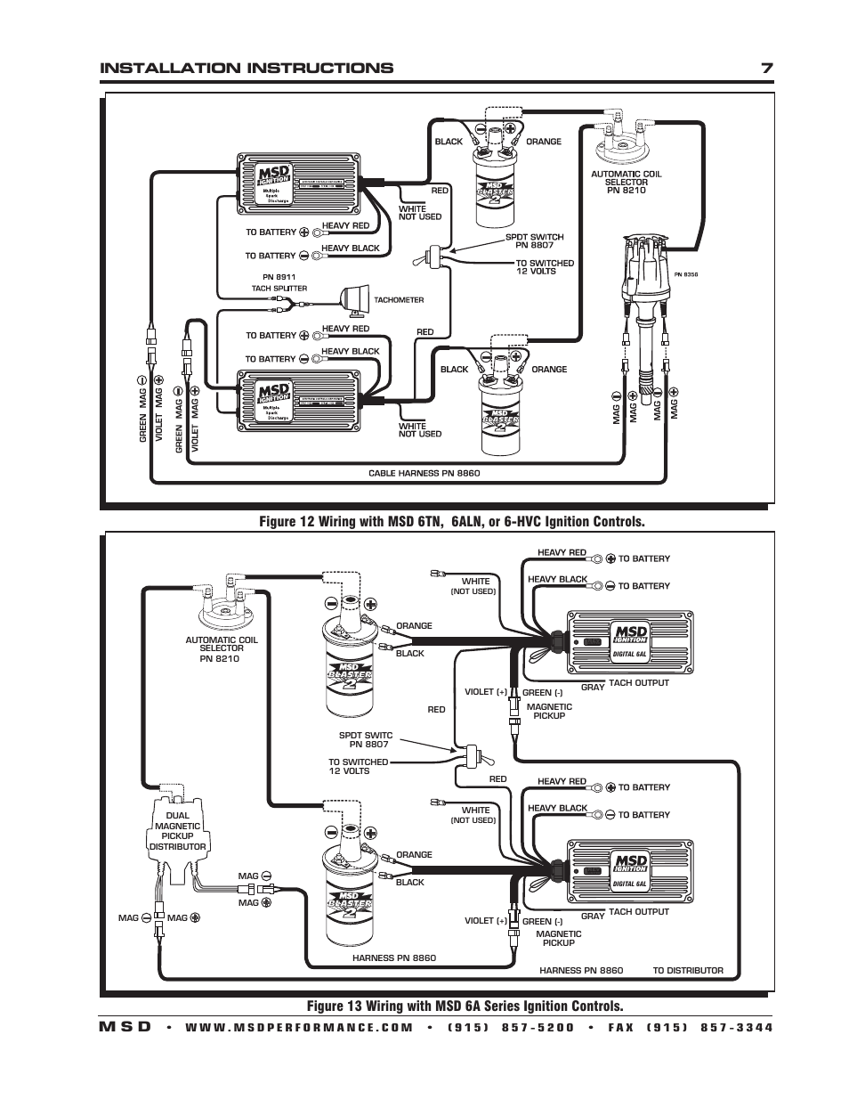 Installation Instructions 7 M S D Msd 8356 Chevy V8 Dual Pickup Distributor With Digital 6al Wiring User Manual Page 8