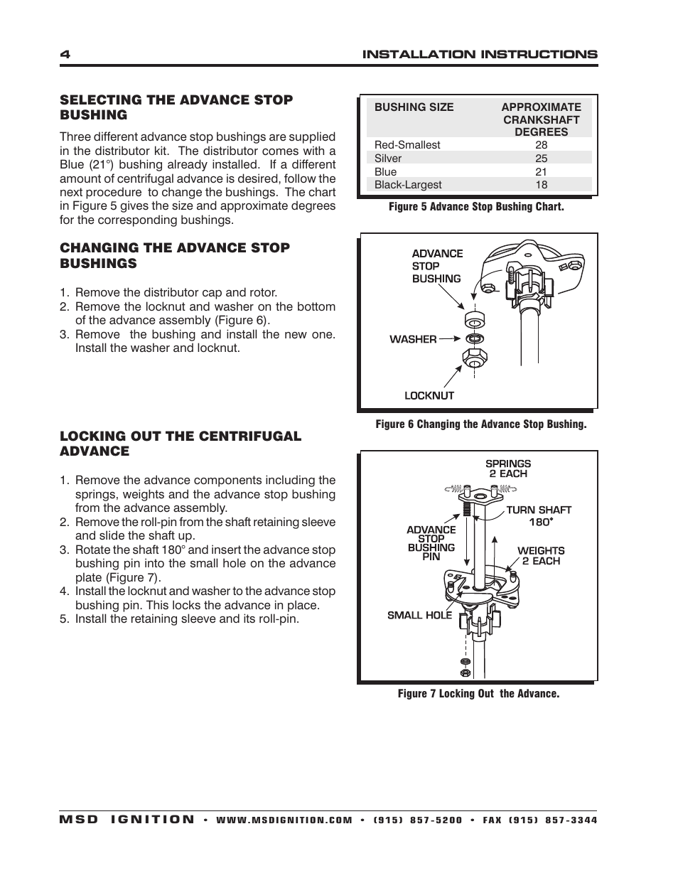 Msd 8598 Ford 289 302 Billet Distributor Installation User Manual Wiring Diagram Page 4 8