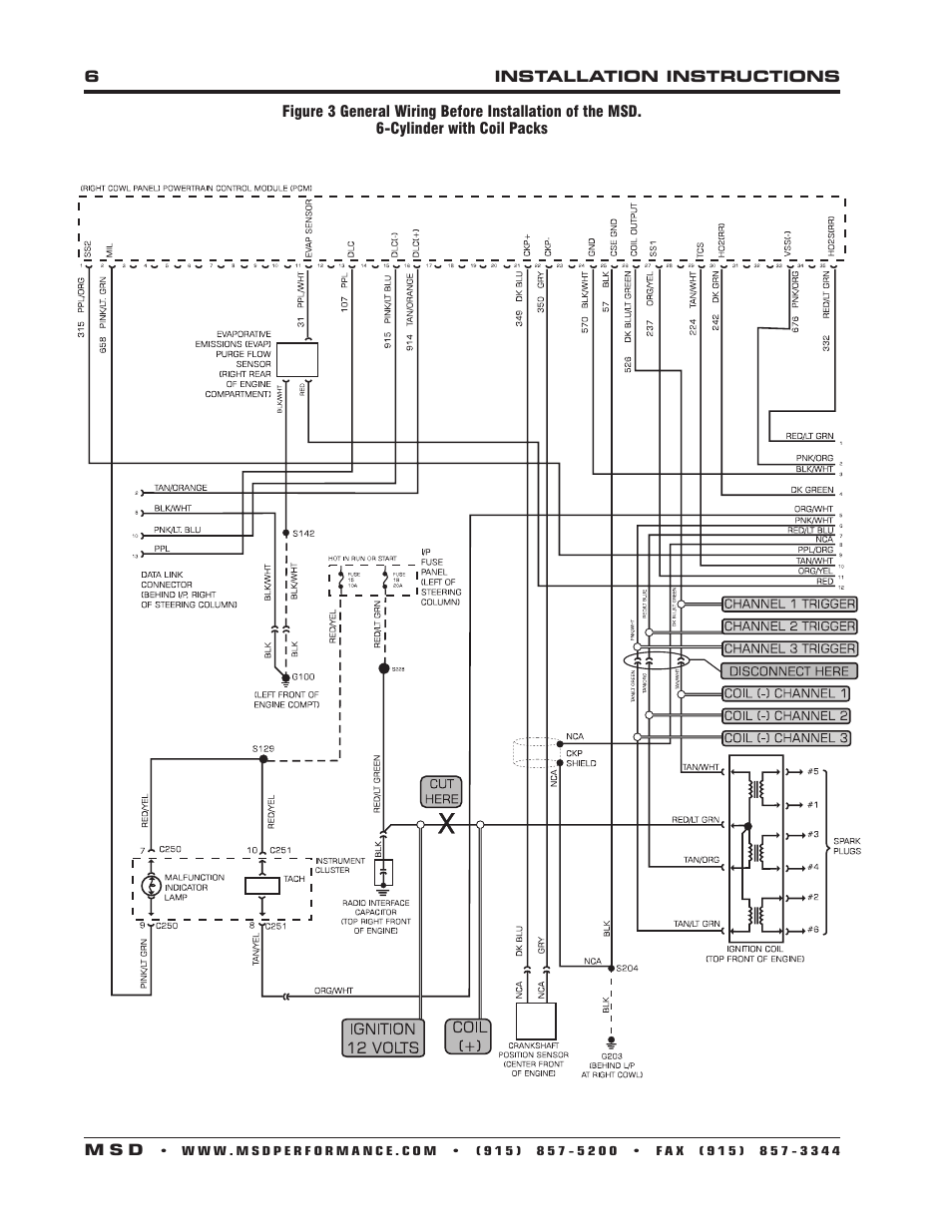 msd 62152 dis 4 plus distributorless 4 channel installation page6 msd 8365 wiring diagram wiring diagram simonand msd ignition wiring diagram at gsmx.co