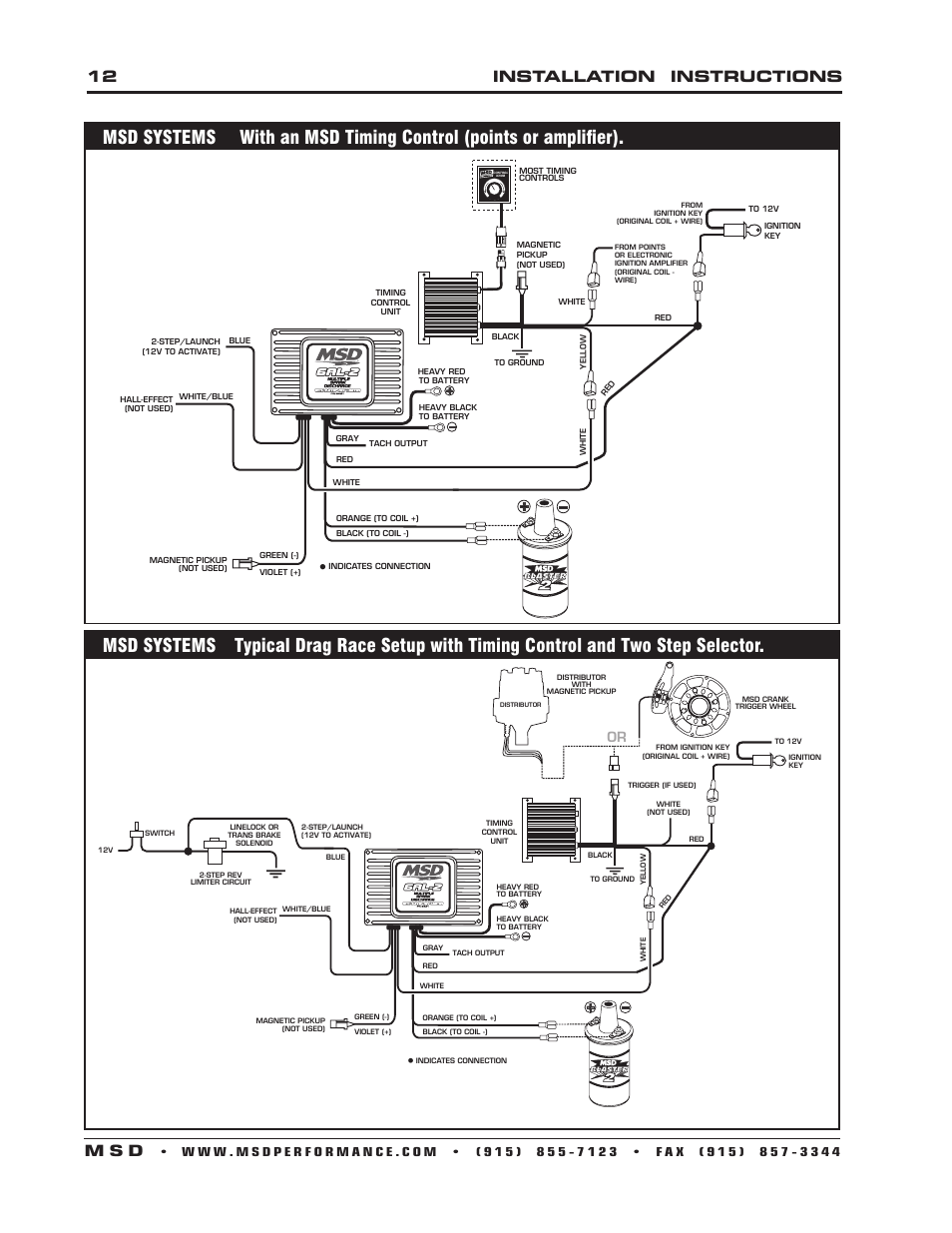 12 Installation Instructions M S D Msd 6421 6al 2 Ignition Control Wiring Diagram Tach Output User Manual Page 28