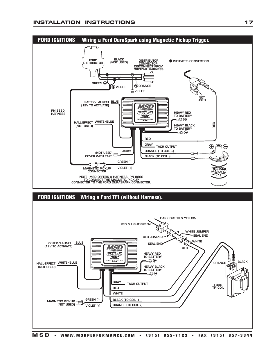 msd 6421 6al 2 ignition control installation page17 100 [ wiring diagram for msd distributor ] msd pro billet msd 6200 wiring diagram at gsmx.co