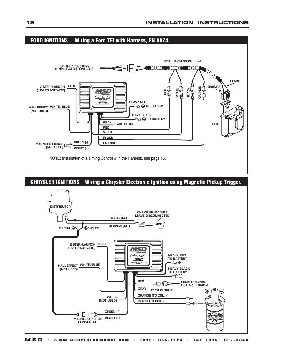 18 installation instructions m s d | MSD 6421 6AL-2 Ignition Control  Installation User Manual | Page 18 / 28Manuals Directory