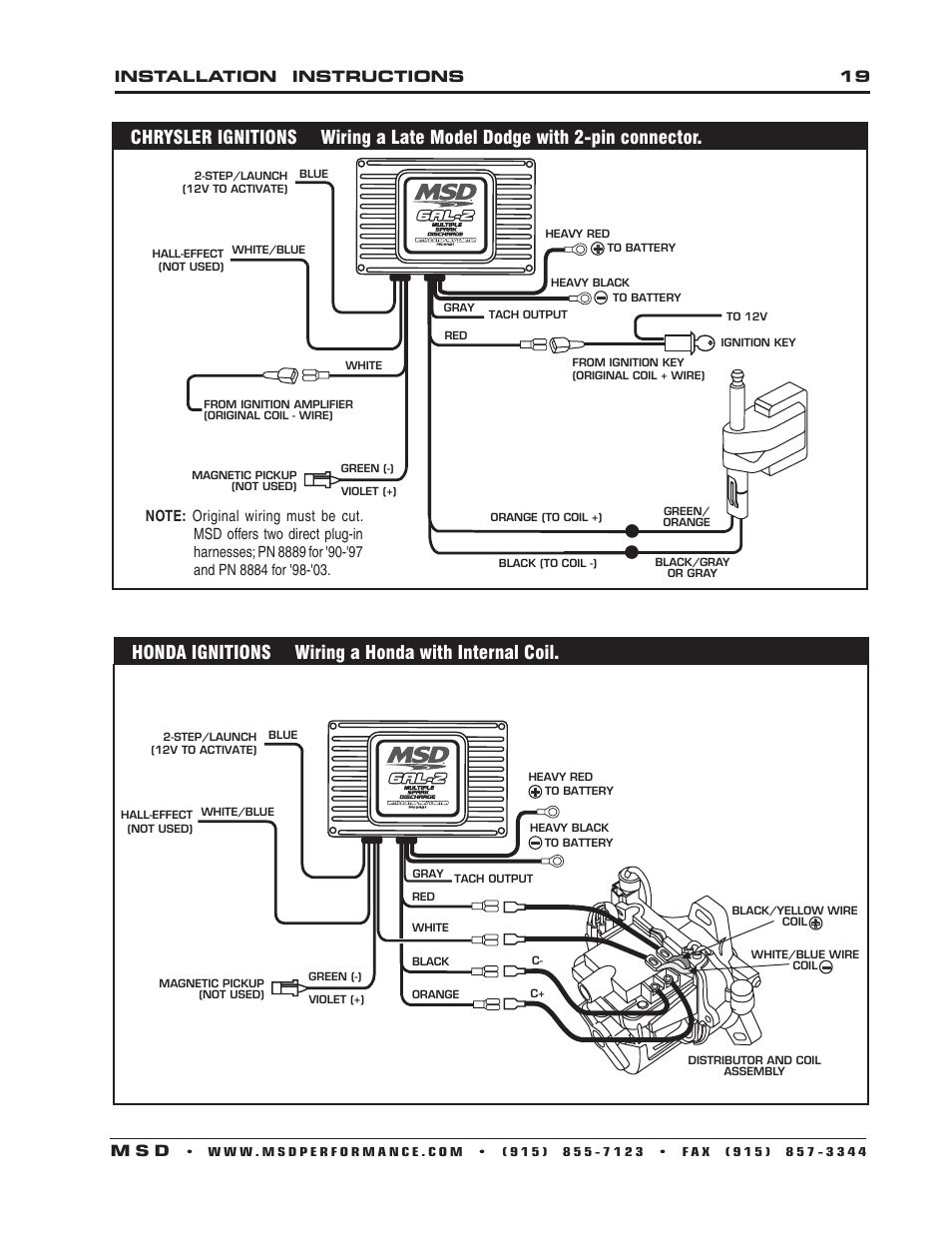 Honda Ignitions Wiring A Honda With Internal Coil  Installation Instructions 19 M S D