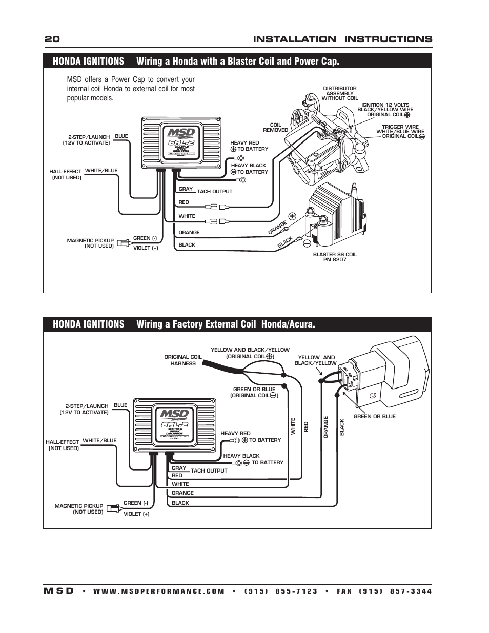Msd 6al Wiring Honda Smart Diagrams How To Wire 8207 Diagram Fuel Injection Installation 6420