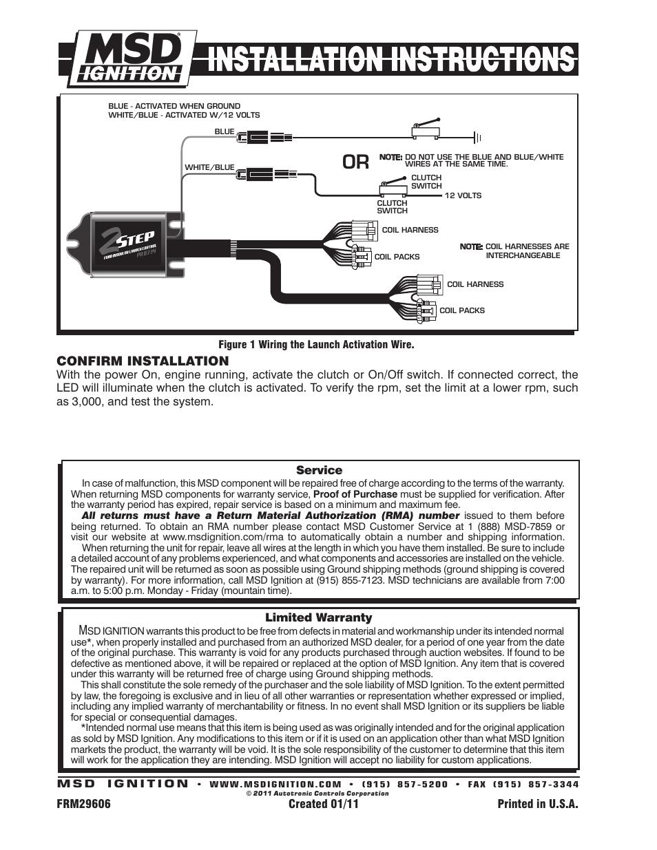 Msd 2 Step Wiring Diagram  Msd Two Step Wiring Diagram