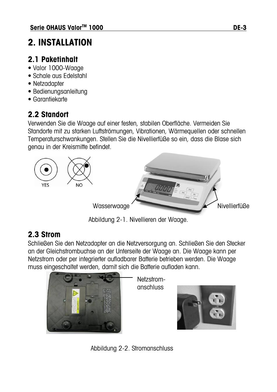 installation 1 paketinhalt 2 standort ohaus valor 1000 compact rh manualsdir com Manual Logo Clip Art Manual Mode