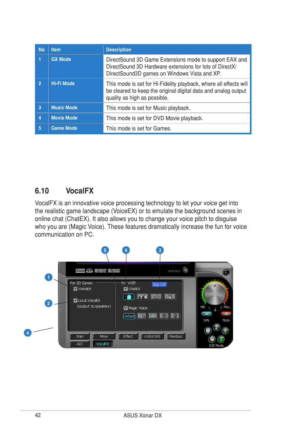 10 vocalfx | Asus Xonar DX User Manual | Page 48 / 80