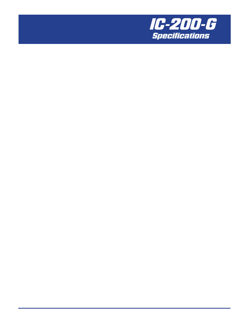 Ic-200-g, Specifications | Trade Mark Broderson IC-200 User Manual | Page 4  / 6