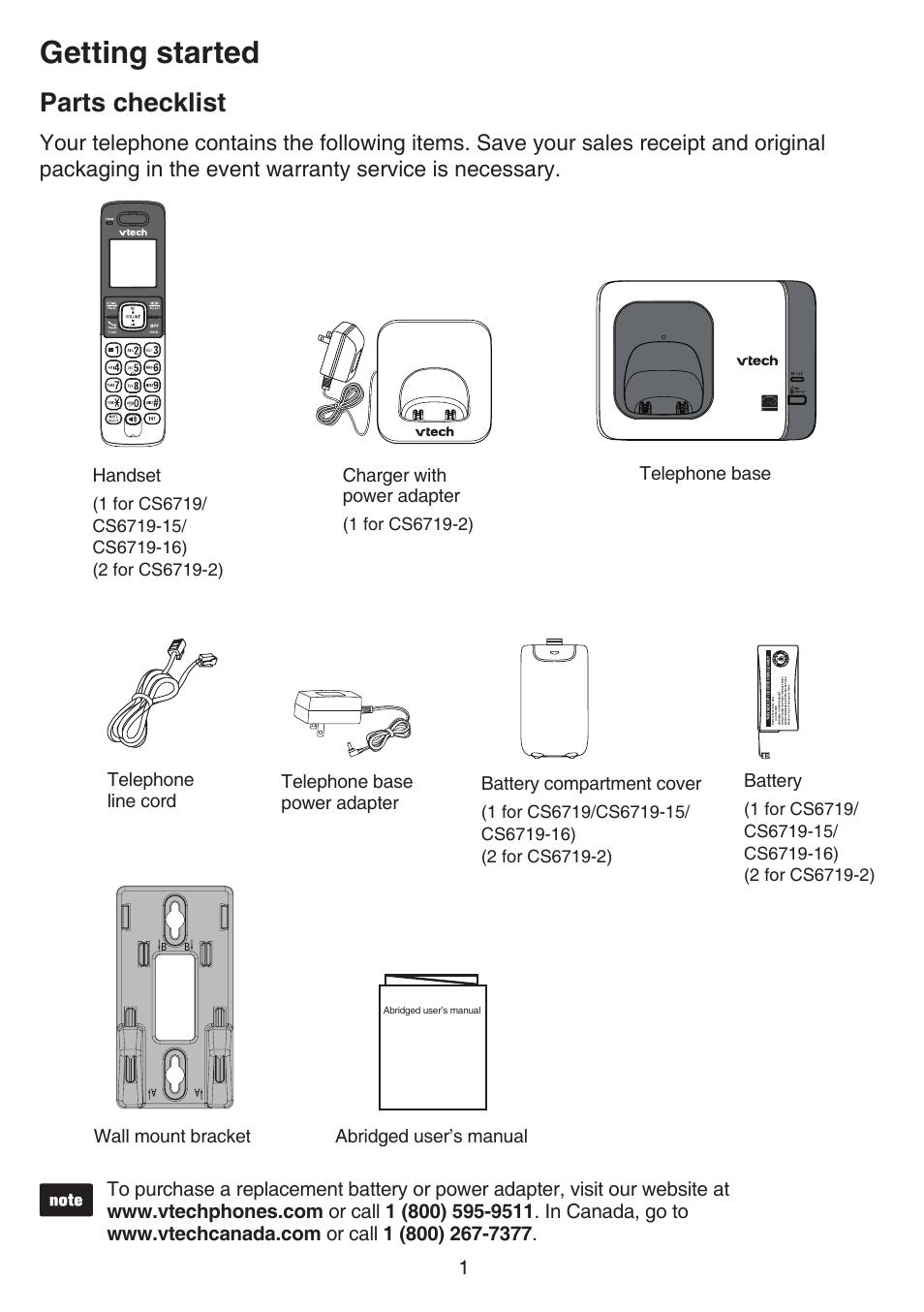 Vtech Manual Cs6719 Various Owner Manual Guide