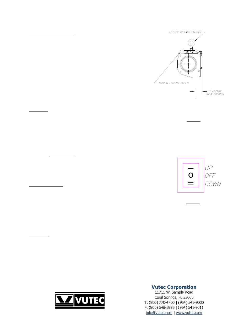 Vutec Elegante Motorized Installation Instructions User Manual Thread Switch To Outlet Wiring Page 4 5