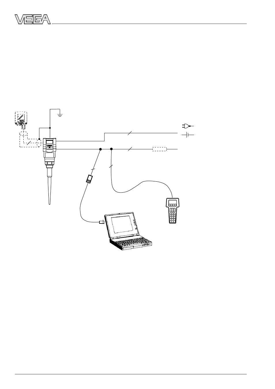 Electrical connection | VEGA VEGAPULS 51K…54K 4 … 20 mA; HART ...