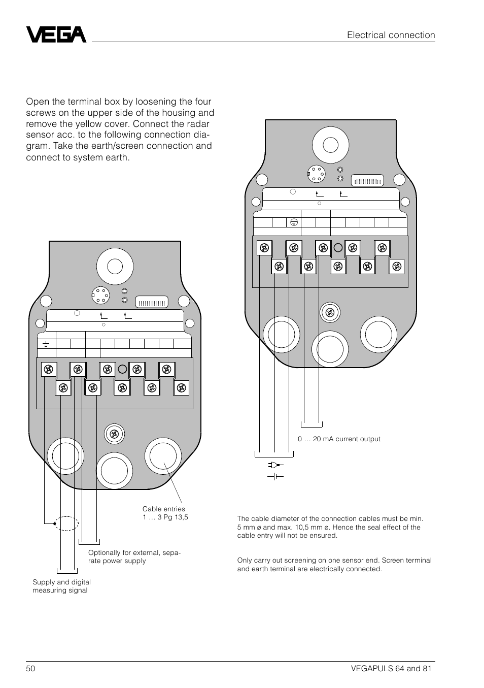 3 Connection Diagrams Of Vegapuls 64 Series Fk Dk Vega Wiring Fv Dv 81 User Manual Page 50 84