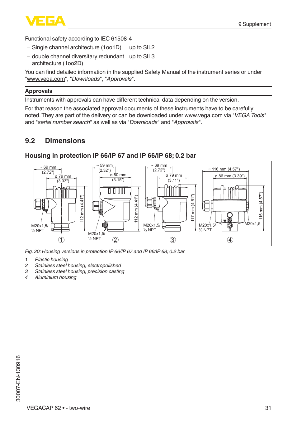 2 Dimensions Vega Vegacap 62 Two Wire User Manual Page 31 40 72 Wiring Diagram