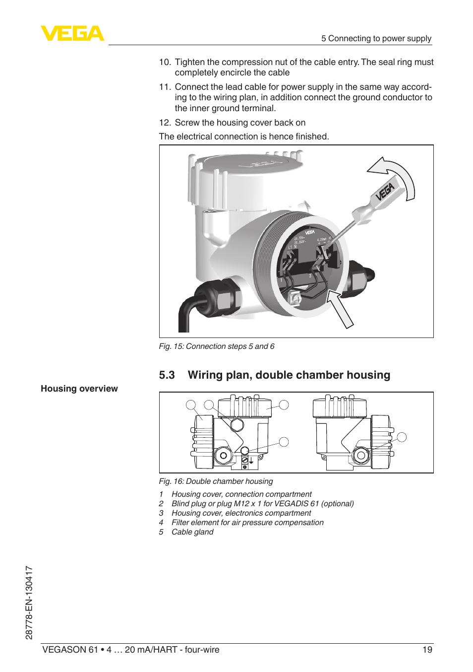 3 Wiring Plan Double Chamber Housing Vega Vegason 61 4 20 A Plug Ma Hart Four Wire User Manual Page 19 48