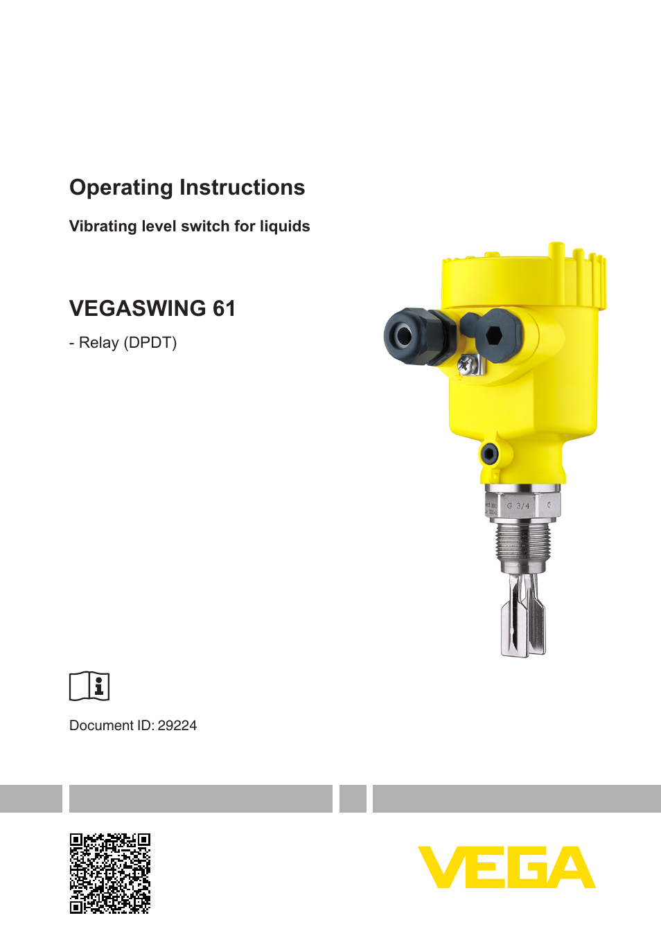 Vega Vegaswing 61 Relay Dpdt User Manual 36 Pages Level Switch