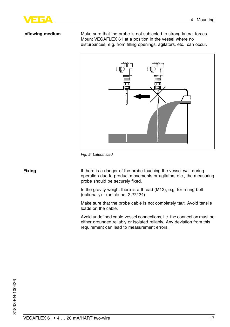 Vega vegaflex 61 foundation fieldbus user manual | page 54 / 64.