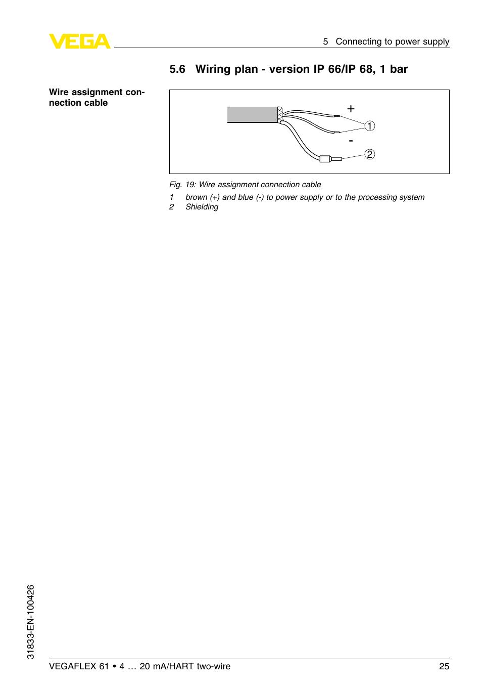 Vega vegaflex 61 4 … 20 ma_hart two-wire user manual | page 52 / 64.