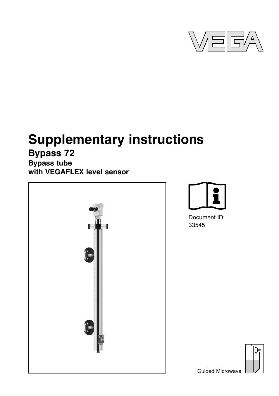 Vega Byp 72 With Vegaflex Level Sensor User Manual 12 Pages