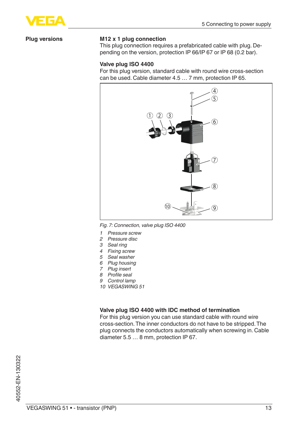 VEGA VEGASWING 51 - transistor (PNP) User Manual | Page 13 / 32