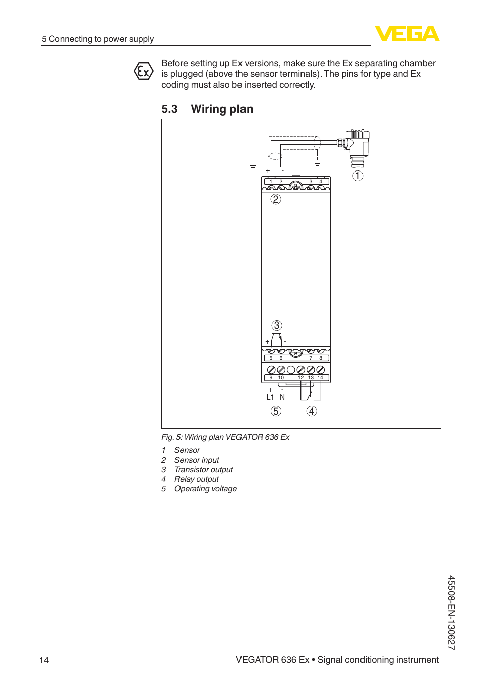 3 wiring plan | vega vegator 636 ex user manual | page 14 / 28 vega wiring diagram for heat vega wiring diagram
