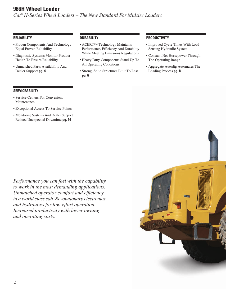 966h wheel loader milton cat 966h user manual page 2 28 rh manualsdir com cat 966h service manual Cat 988