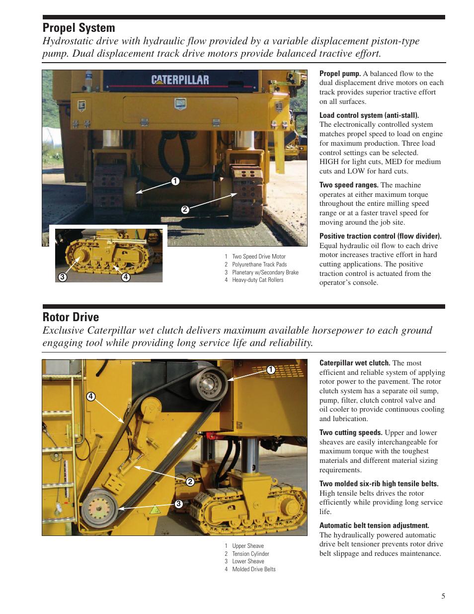 Propel system, Rotor drive | Milton CAT PM 200 User Manual