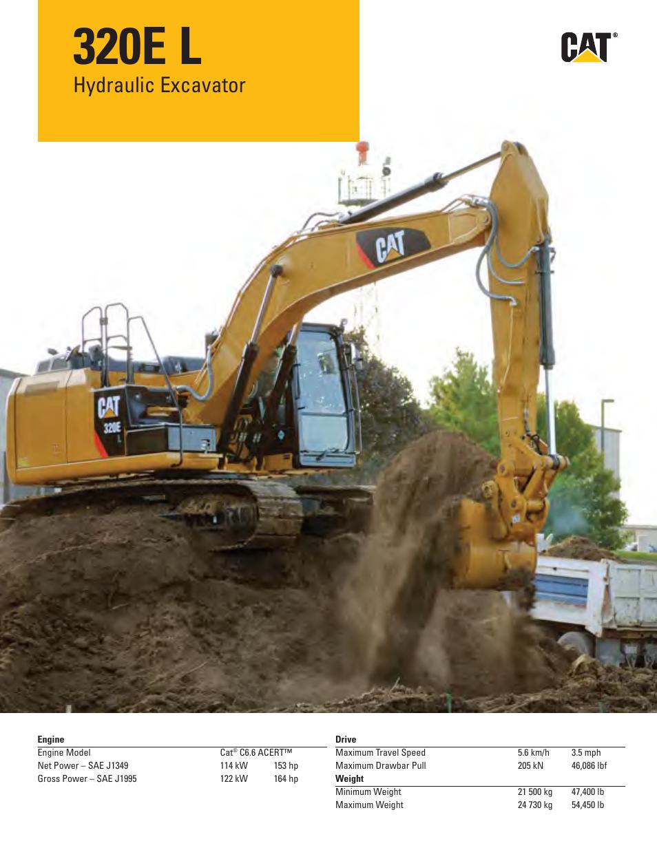 milton cat 320e l user manual 32 pages rh manualsdir com Caterpillar 420E Caterpillar Equipment