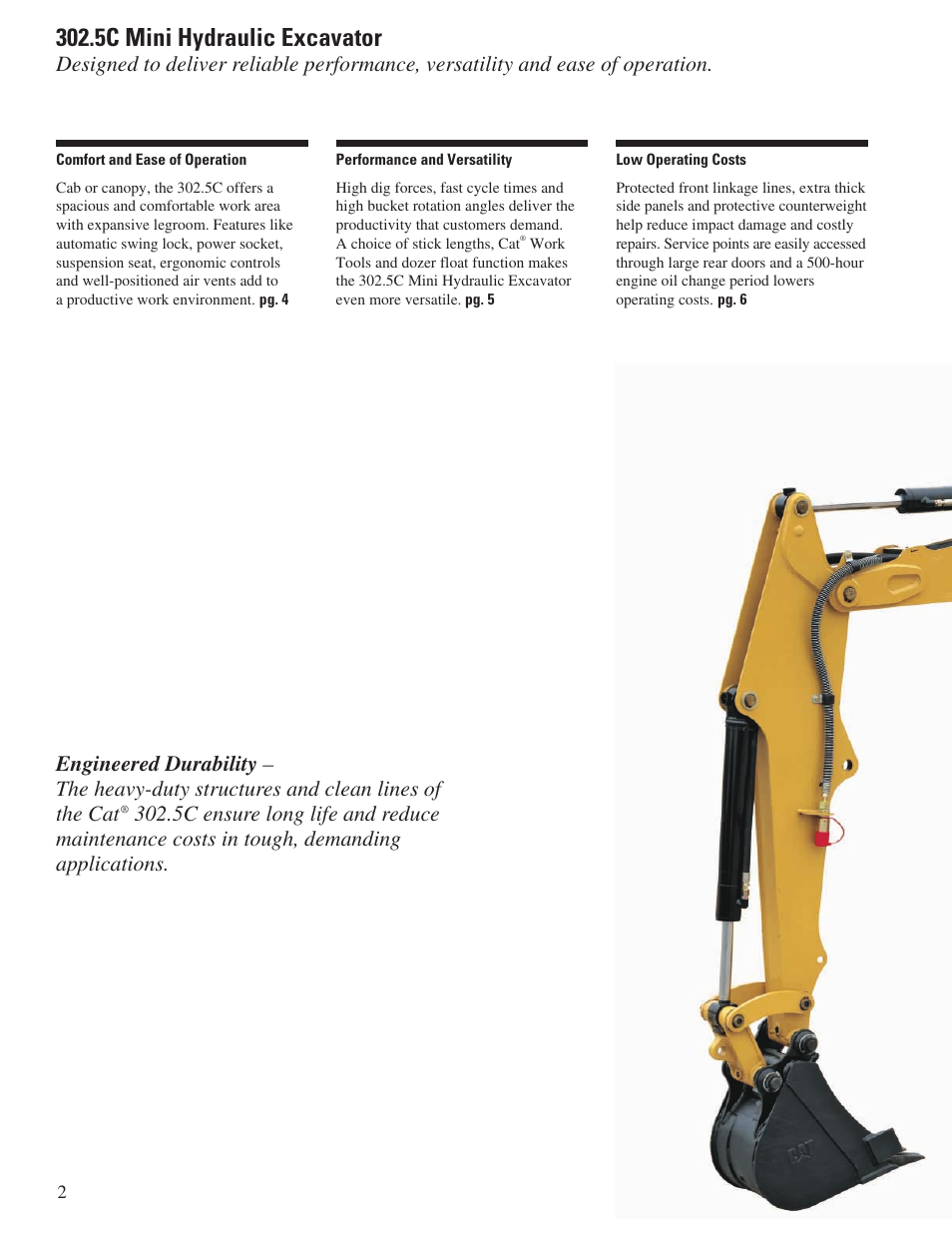 5c mini hydraulic excavator | Milton CAT 302 5C User Manual