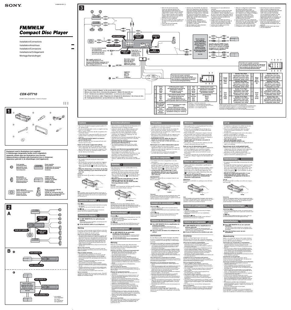 Sony Cdx Gt710 Wiring Diagram Sony Explode Car Stereo Wiring ...