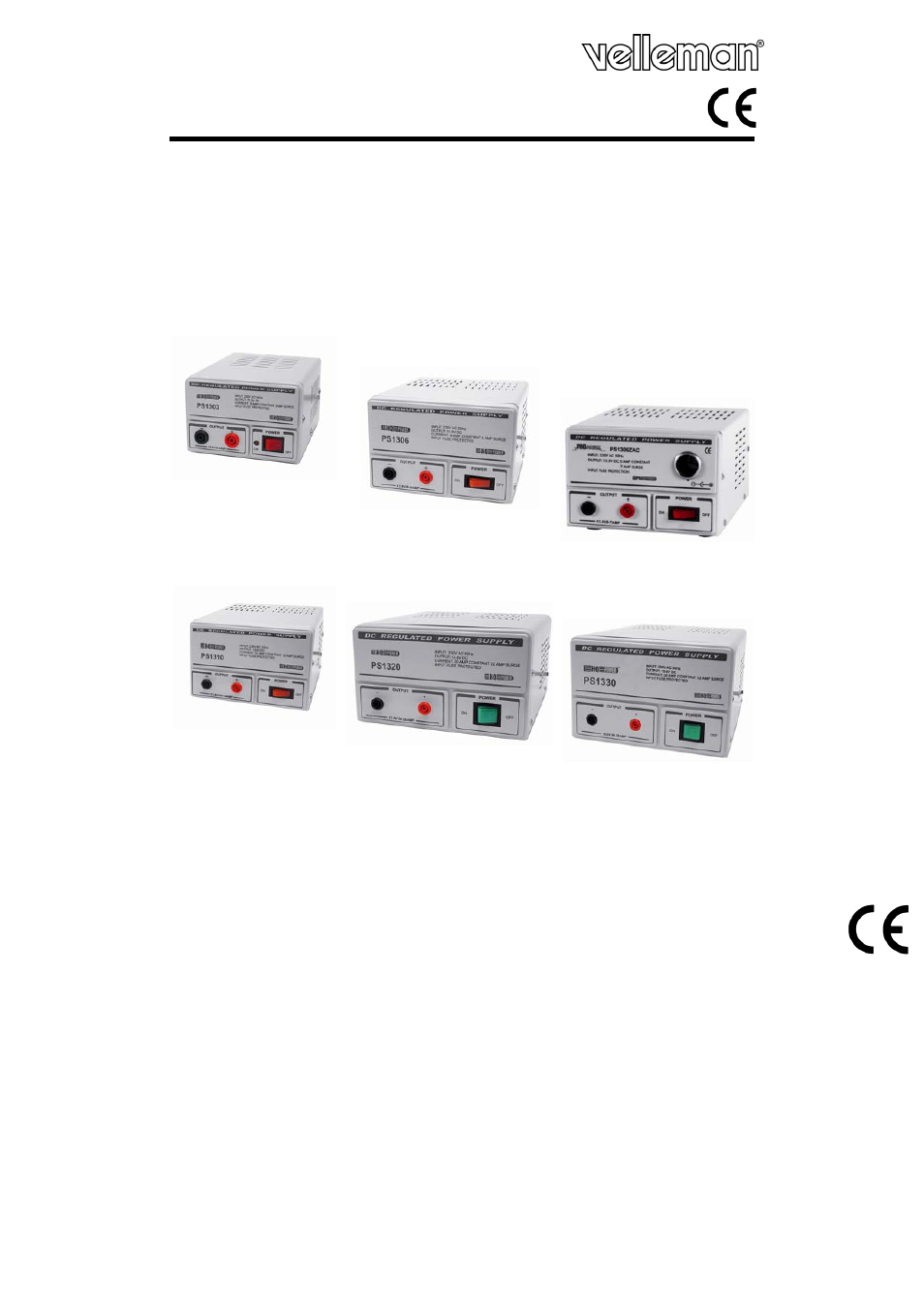 Velleman Ps1306c User Manual 11 Pages 138v 10a Power Supply