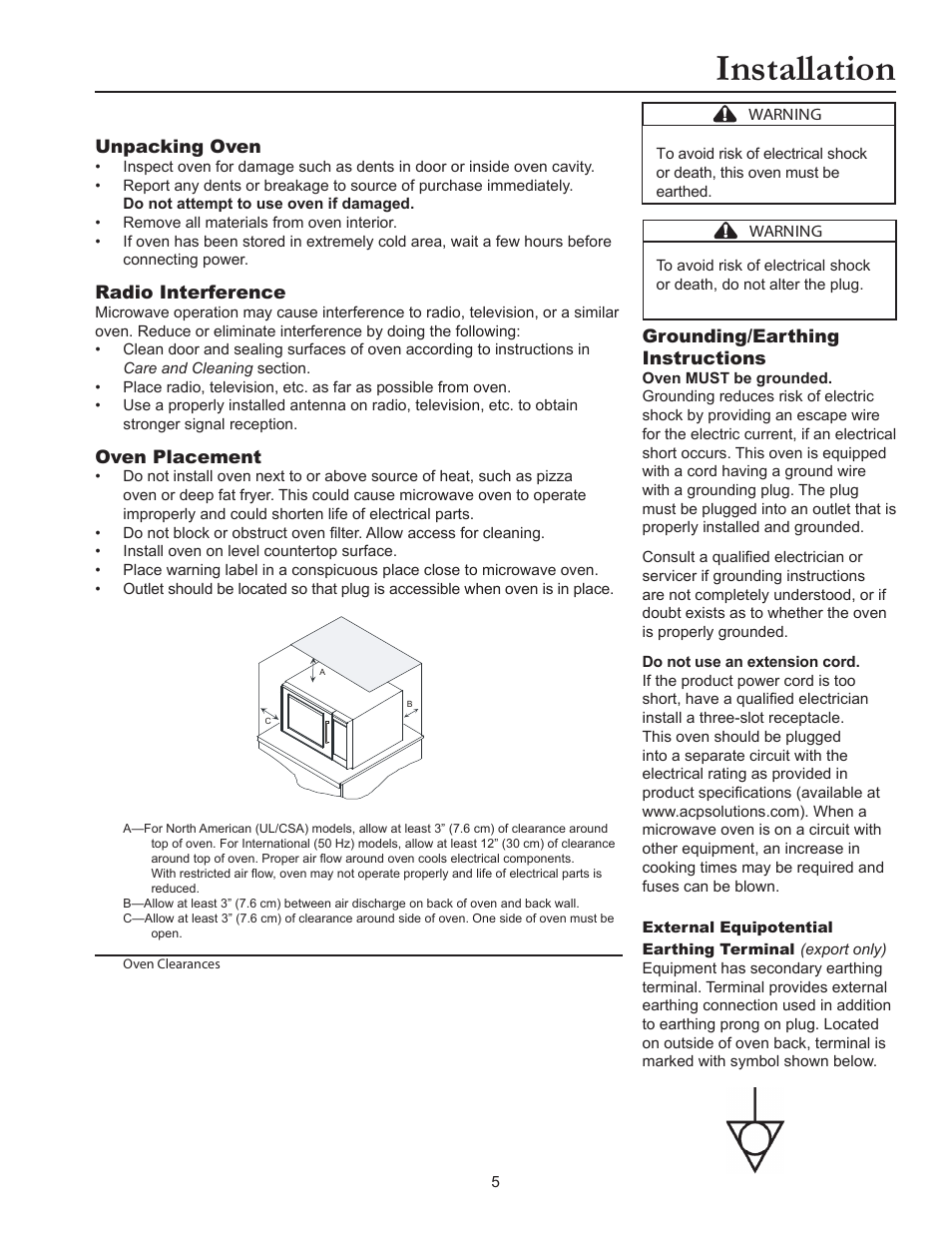 Installation Acp Rms10ts Owners Manual User Page 5 12 Symbol For Electrical Outlet Additionally Wiring