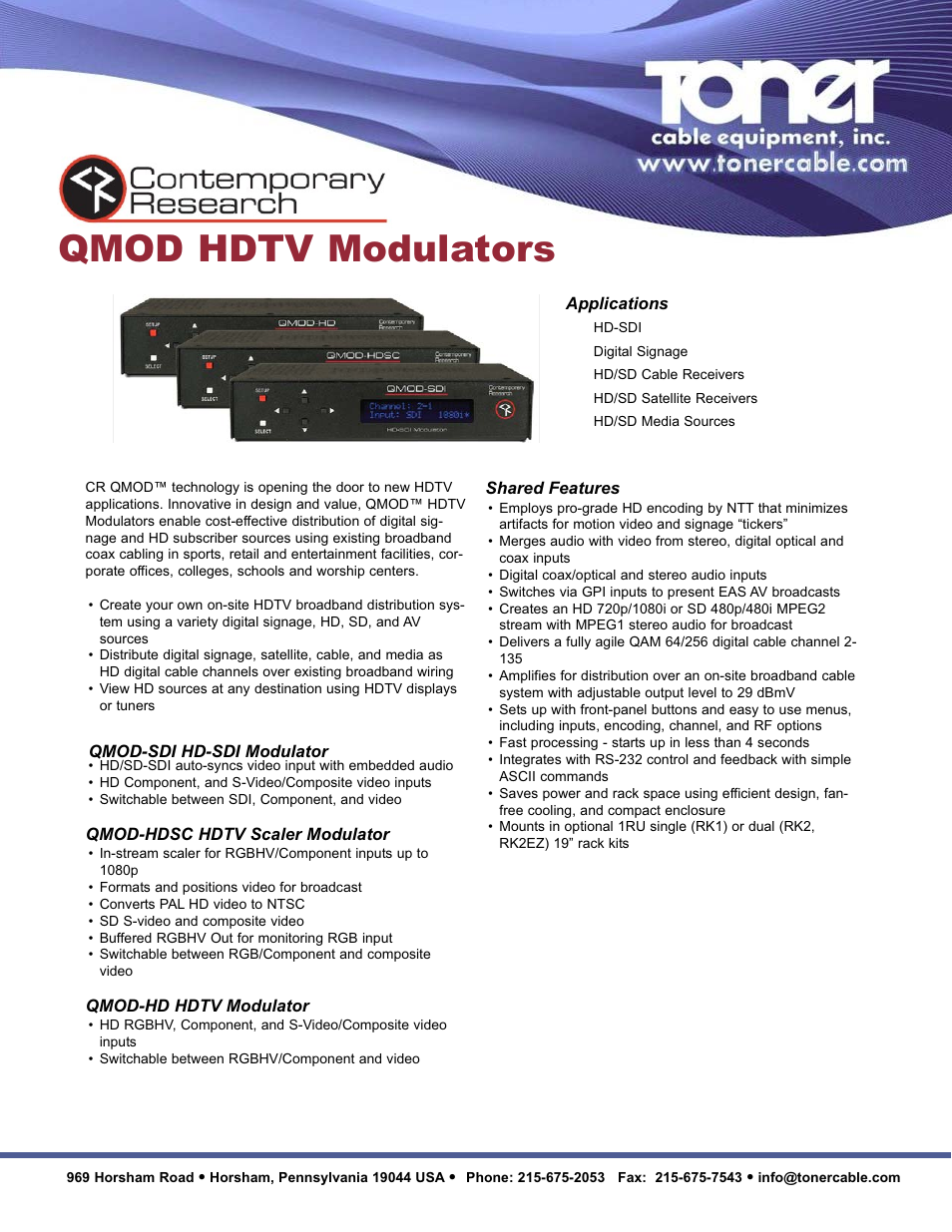 Toner Cable Qmod Sdi Hd Modulator User Manual 2 Pages Video Wires The You Run For Your Distribution
