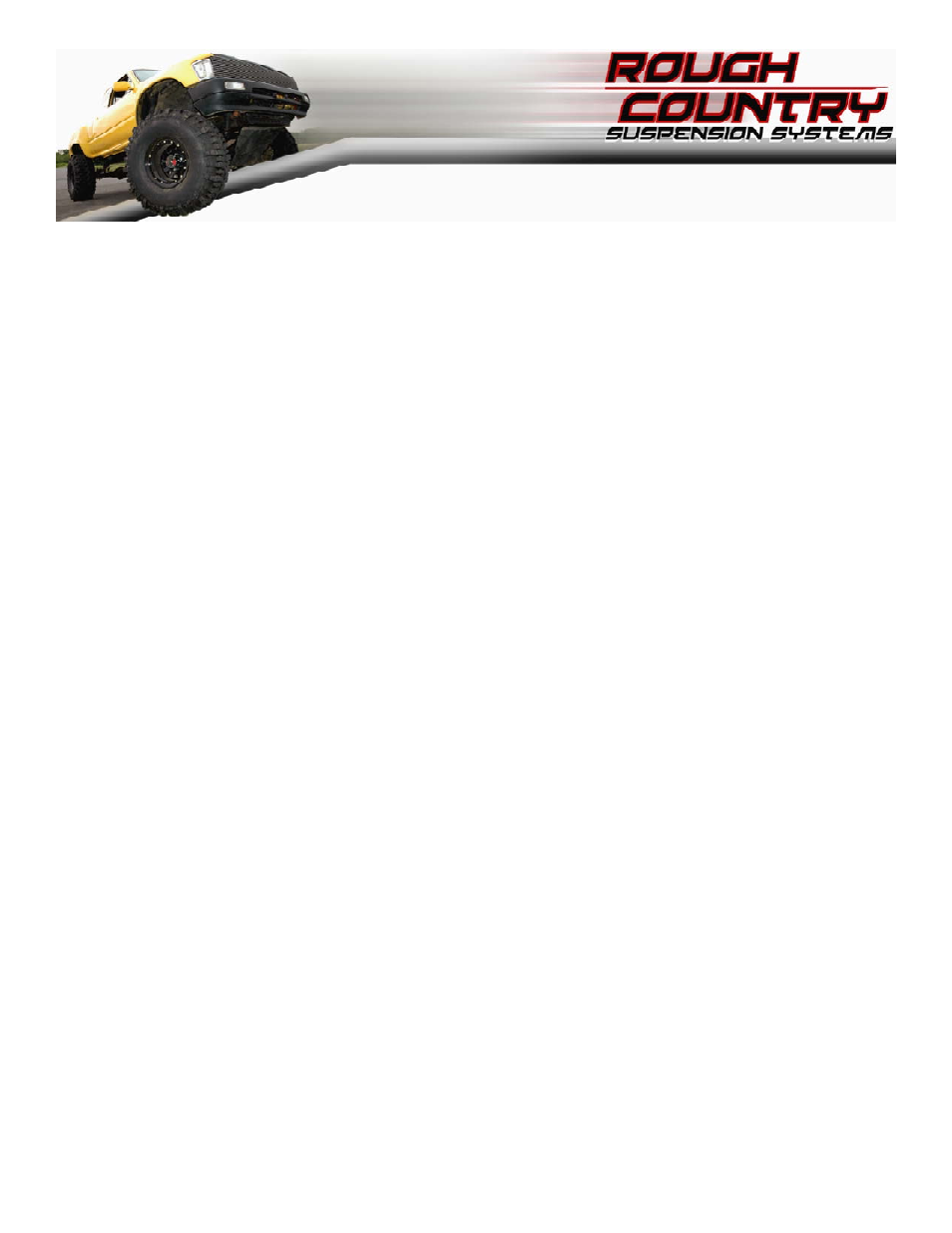 Rough Country 734 20 User Manual | 8 pages