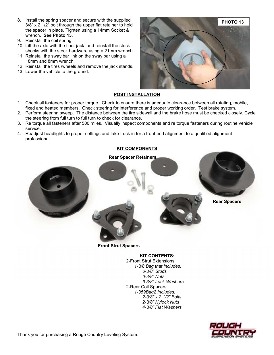 Rough Country 359 User Manual   Page 4 / 4