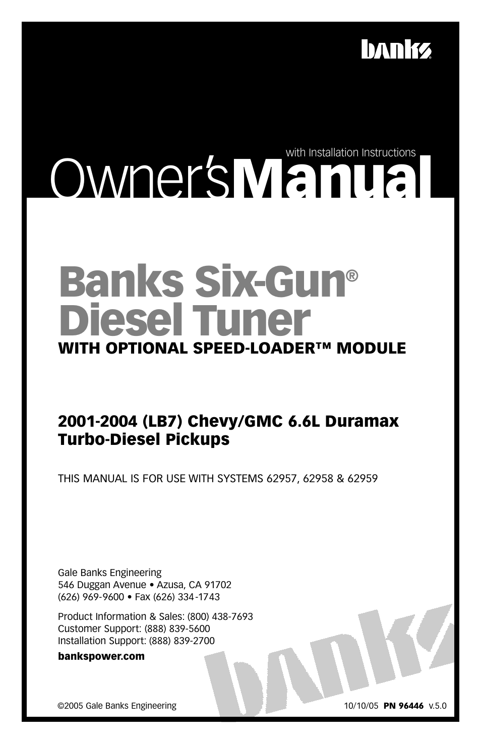 banks power chevy gmc trucks duramax lb7 diesel 01 04 6 6l rh manualsdir com User Manual PDF User Manual PDF