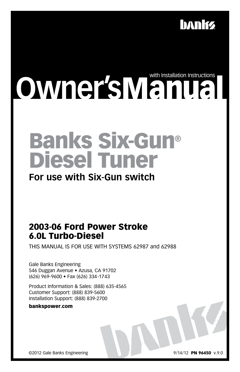 banks power ford trucks diesel 03 07 6 0l power stroke tuner rh manualsdir com instruction manual backup camera User Manual
