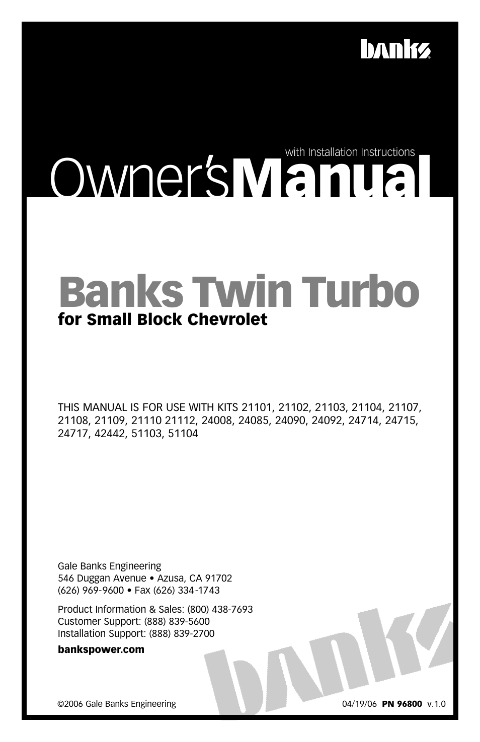 Banks Power Twin-Turbo: Forced Induction- Twin Turbos Small