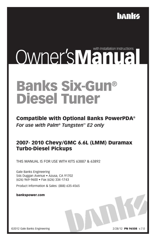 Banks Power Chevy_GMC Trucks: Duramax LMM (Diesel '07 - 10