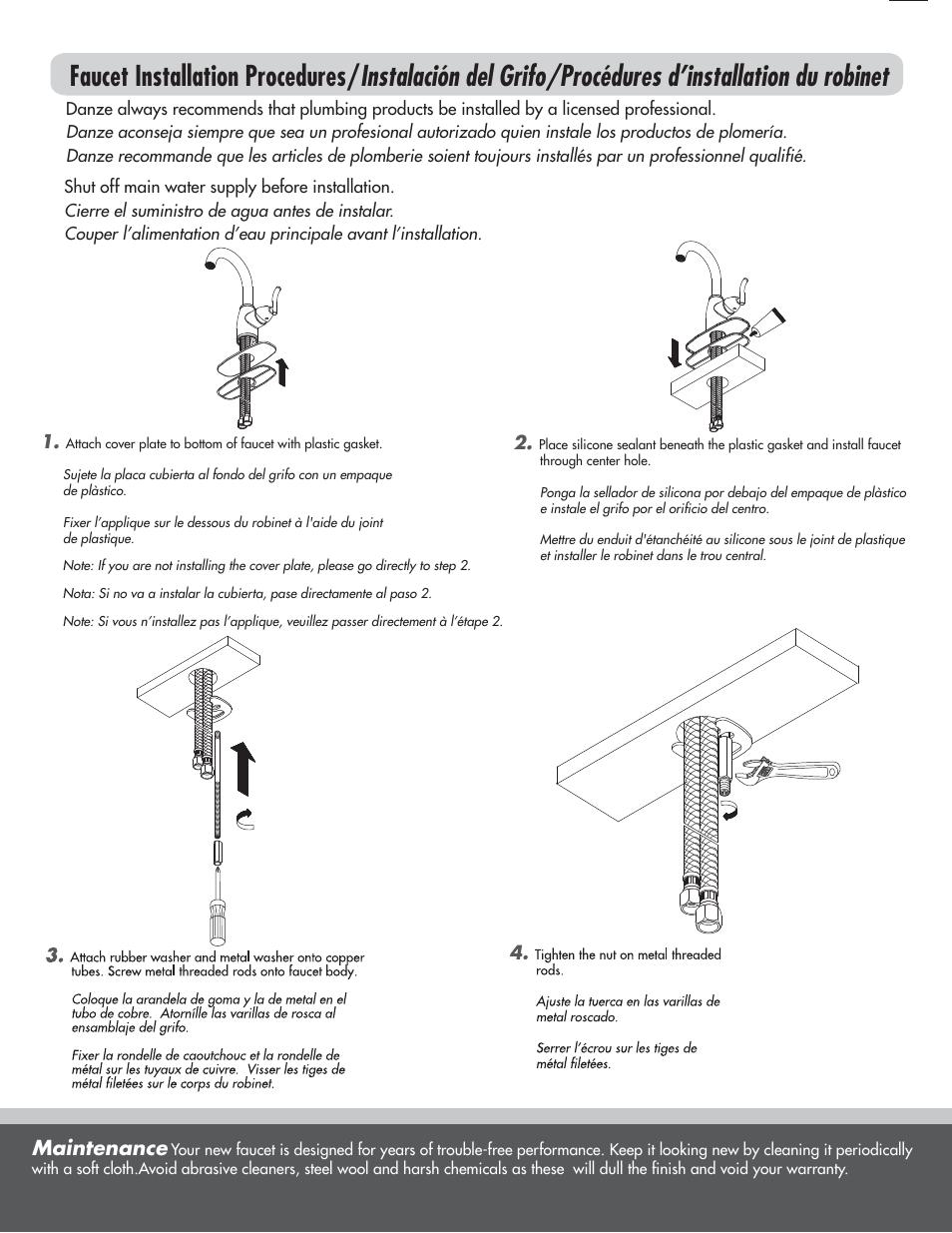 maintenance danze d221554 installation manual user manual page rh manualsdir com Gutter Installation Guide Vinyl Graphics Installation Guide