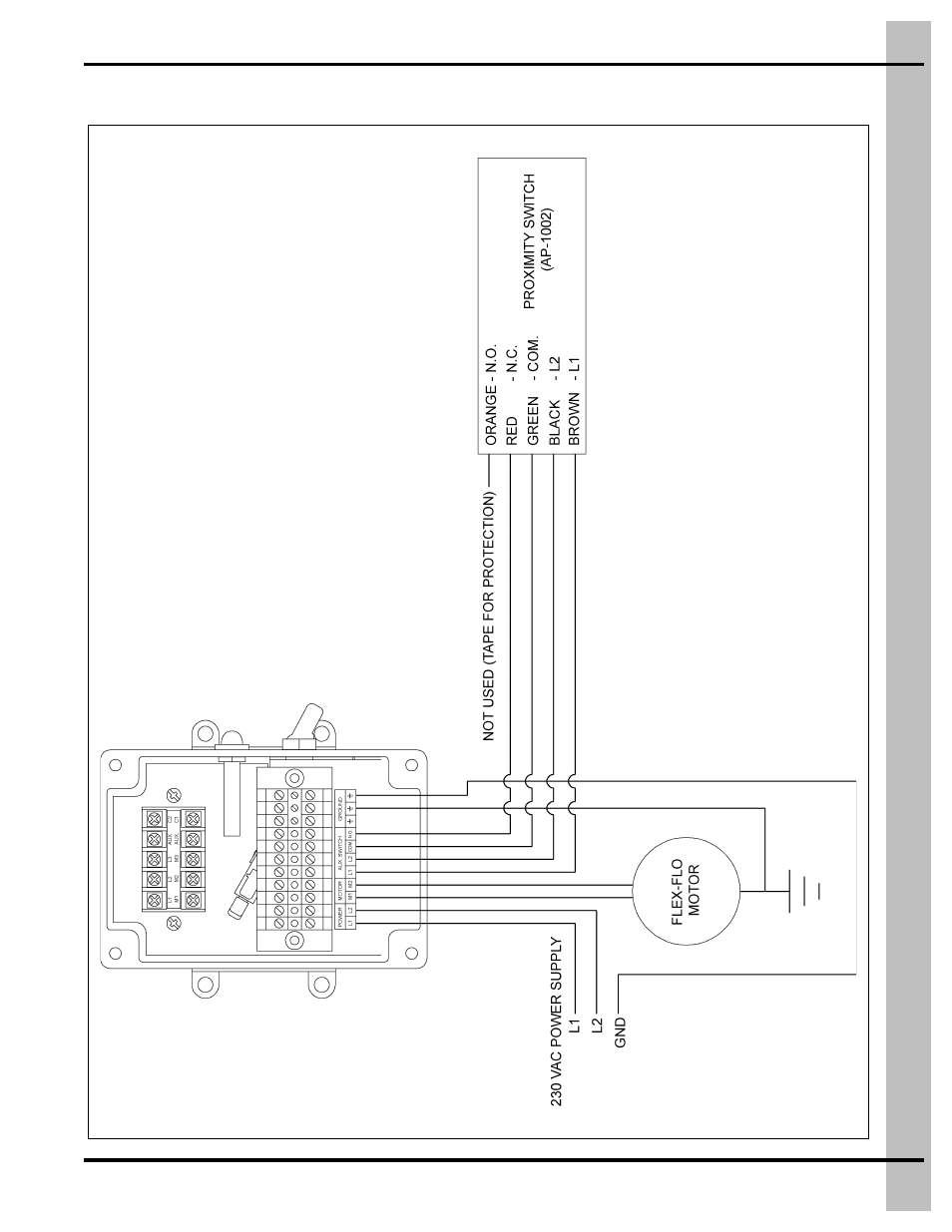Flex-flo control with proximity switch (ap-1002) | Grain Systems Bin  Accessories PNEG-914 User Manual | Page 59 / 64
