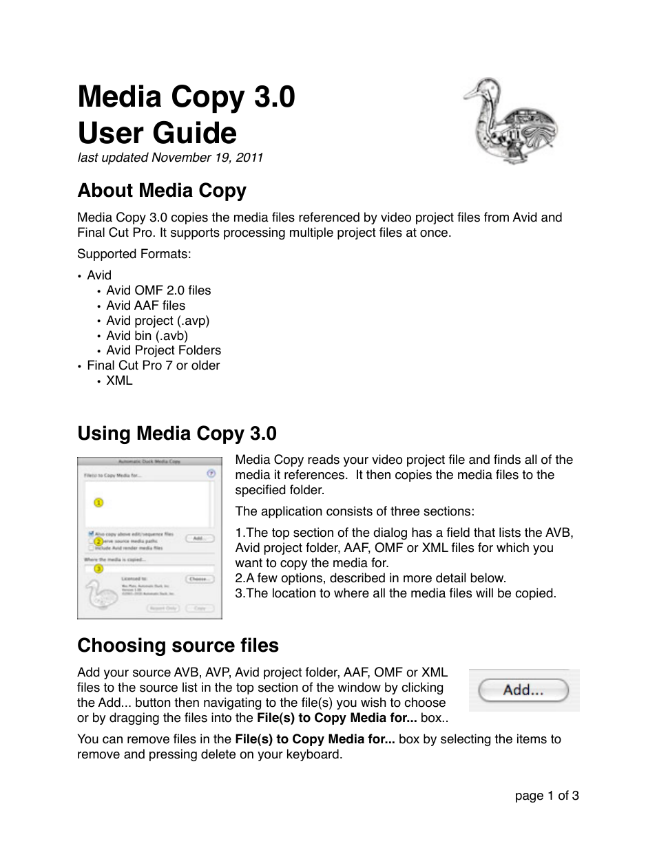 Automatic Duck Media Copy 30 User Manual