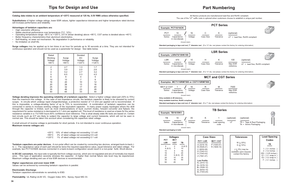 Nemco Electronics Part Numbering System User Manual | 1 page