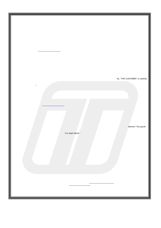 One year limited warranty, The turbosmart pledge
