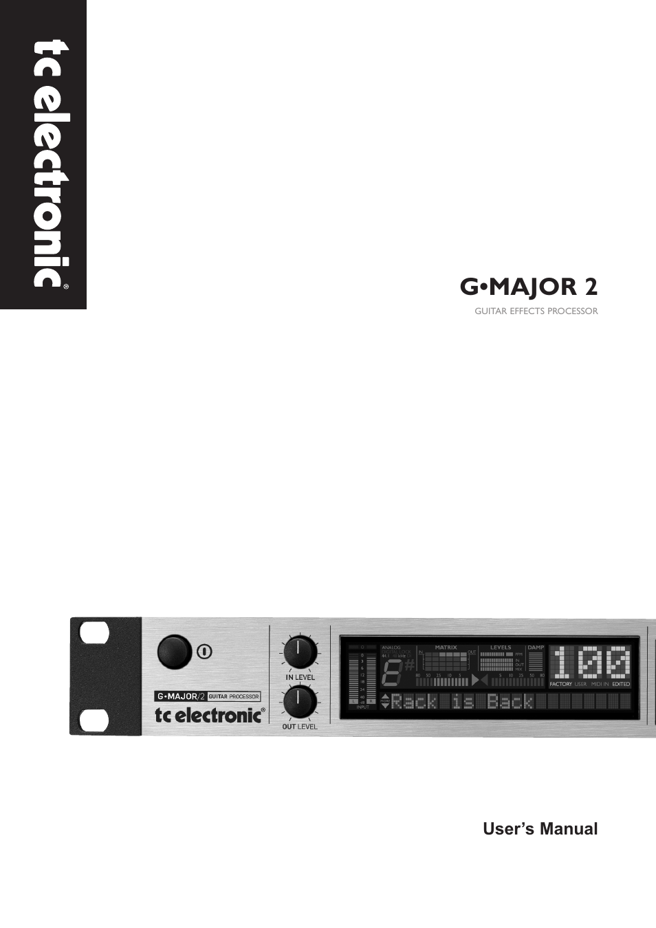 tc electronic g major 2 user manual 55 pages rh manualsdir com tc electronic g major manual pdf tc electronic g major 2 manual español