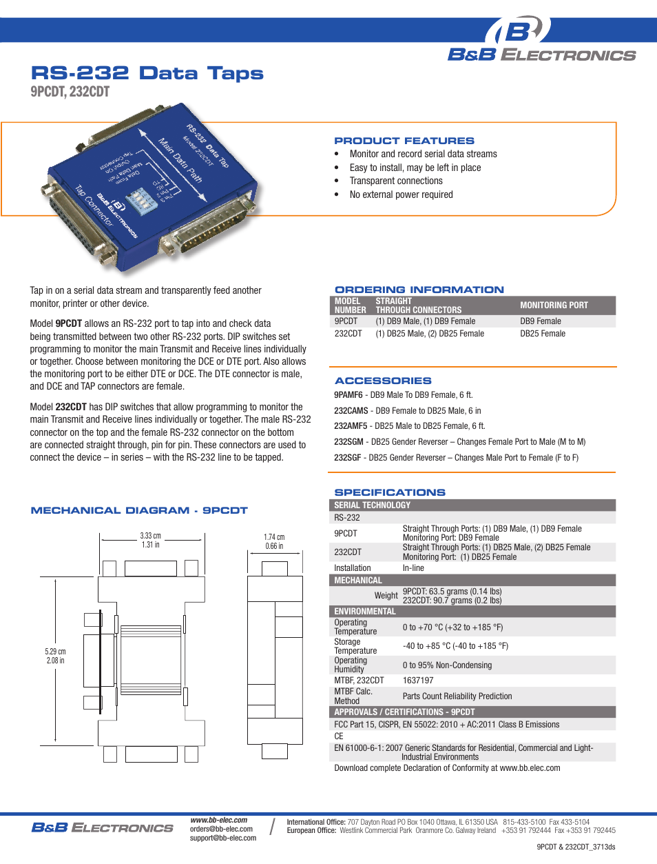 Data Tap Rs-232 B&B Electronics Networking & Connectivity ...