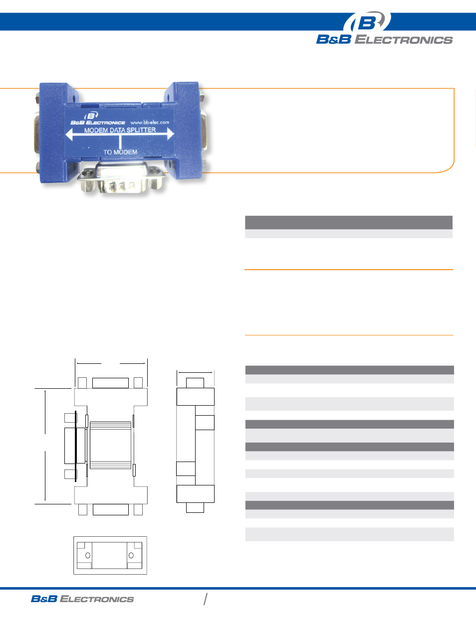 b b electronics 9pmds datasheet user manual 1 page rh manualsdir com Access Data Sheet Data Sheet View