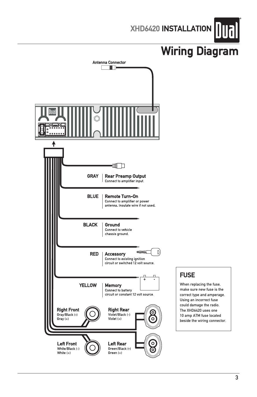 20 pin radio wiring diagram dual